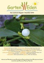 Das wedische Magazin . Dezember 2010 - Garten Weden