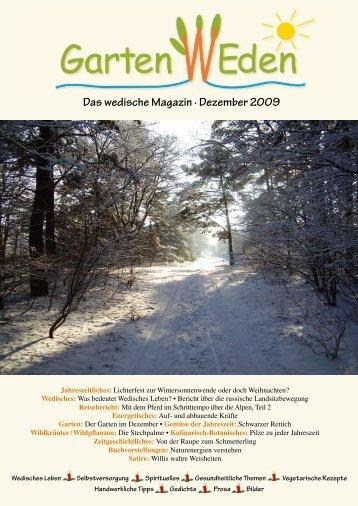 Das wedische Magazin . Dezember 2009 - Garten Weden