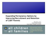 Expanding Permanency Options by Improving Recruitment and ...