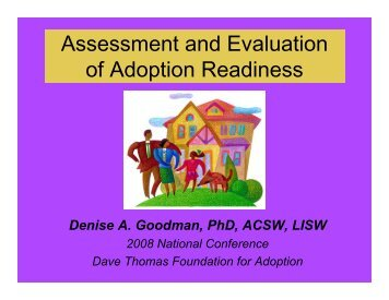 Assessment and Evaluation of Adoption Readiness - Dave Thomas ...