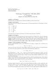 """Vorlesung """"Compilerbau"""" WS 2011/2012"""