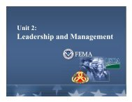 Leadership and Management - Emergency Management Institute
