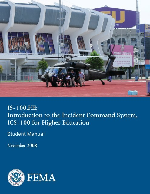 IS-100 HE - Emergency Management Institute