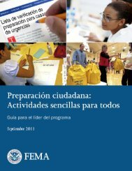 community preparedness: simple activities for everyone