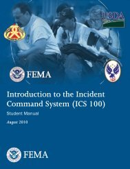 (ICS 100) Student Manual - Emergency Management Institute