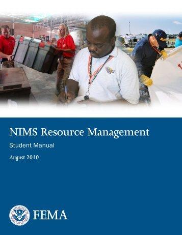 IS-703 NIMS Resource Management - Emergency Management ...