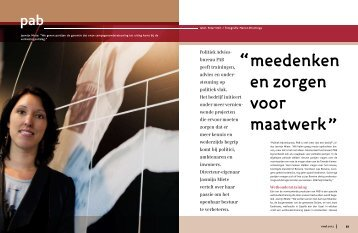 interview magazine raad 2012 - Politiek Adviesbureau PAB