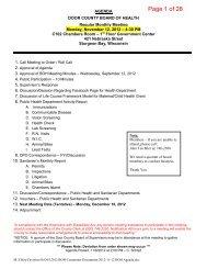 2012-11-12 BOH Agenda Packet.pdf - Door County Web Map