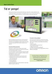Smart Active Parts Brochure - Omron Europe
