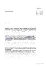 Kulturministeriets brev til kommuner