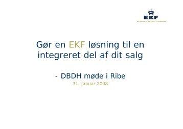 Gør en EKF løsning til en integreret del af dit salg - DBDH