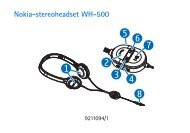 Nokia-stereoheadset WH-500