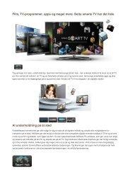 Film, TV-programmer, apps og meget mere. Dette smarte TV har det ...