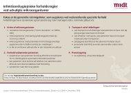 Infektionshygiejniske forholdsregler ved udvalgte ... - e-Dok