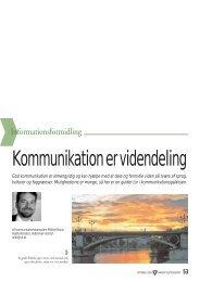 Dansk Vejtidsskrift 2006/10 Kommunikation er videndeling (75 KB)