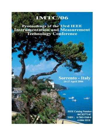 IMTC/06® Proceedings of the IEEE Instrumentation and ...