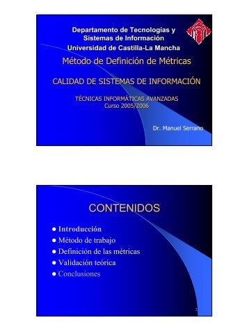 CONTENIDOS - Universidad de Castilla-La Mancha