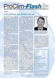 Innovationen, die Politik und wir - OcCC - SCNAT
