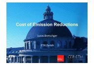 Cost of Emission Reductions