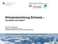Klimaentwicklung Schweiz - OcCC