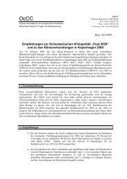 Klimapolitik-OcCC- post2020 - OcCC - SCNAT