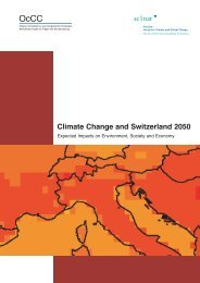Climate Change and Switzerland 2050 - OcCC - SCNAT