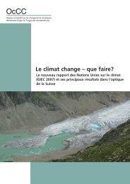 Le climat change ? que faire? - OcCC - SCNAT