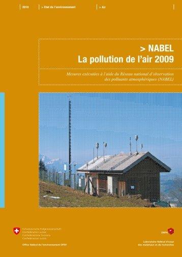 NABEL ? La pollution de l'air 2009