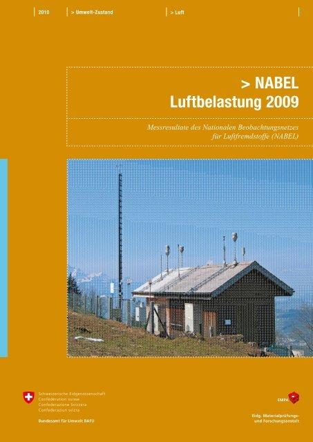 NABEL ? Luftbelastung 2009 - BAFU - CH