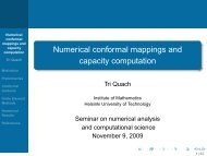 Numerical conformal mappings and capacity computation