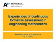 Experiences of continuous formative assessment in engineering ...