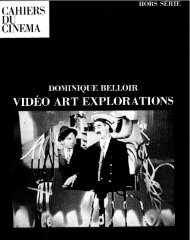 Cahiers du Cinema - Vasulka,org