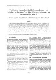 The Decision Making Individual Differences Inventory and ...