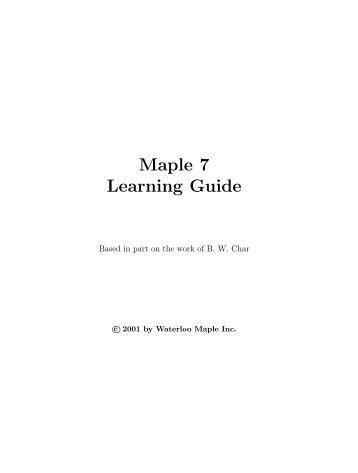 maple tutorial for math 243 rh yumpu com JMP Software JMP Software