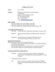 Department of Biochemistry and Microbiology 76 Lipman Dr ...