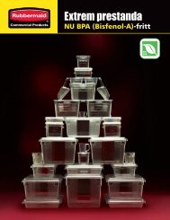 Extrem prestanda - Rubbermaid Commercial Products