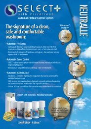 The signature of a clean, safe and comfortable washroom: The ...