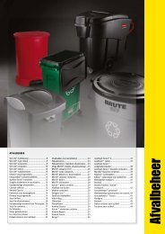 Afvalbeheer - Rubbermaid Commercial Products