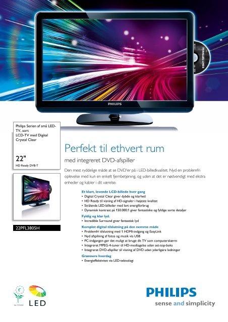 22PFL3805H/12 Philips LCD-TV med Digital Crystal Clear - Icecat.biz