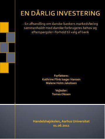 Handelshøjskolen, Aarhus Universitet 01.06.2011 - PURE - Aarhus ...
