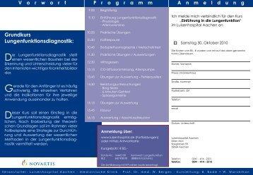 Grundkurs Lungenfunktionsdiagnostik: - Luisenhospital