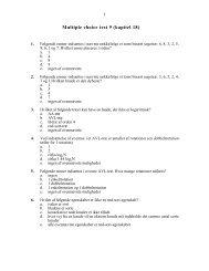 Multiple choice test 9 (kapitel 18) - akira.ruc.dk