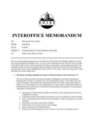 interoffice memorandum