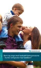 Barn og unge med nedsatt funksjonsevne – hvilke rettigheter har ...