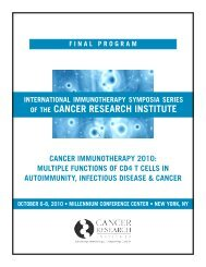 Multiple Functions of CD4 T Cells in ... - Cancer Immunity