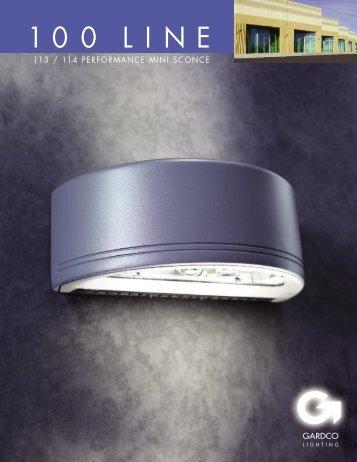 Gardco 113/114 Performance Mini Sconce brochure - Gardco Lighting