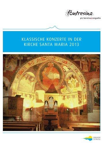 Pontresina Flyer Klassische Konzerte 2013