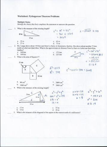 5 7 the pythagorean inequality theorem worksheet. Black Bedroom Furniture Sets. Home Design Ideas
