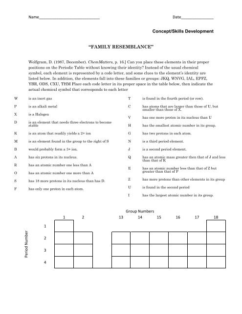periodic table puzzle answer key | Brokeasshome.com