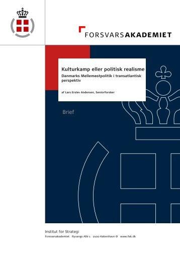 Kulturkamp eller politisk realisme